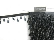 10mt Black beaded ribbon curtain trimming fringe fabric edging bead trim edge